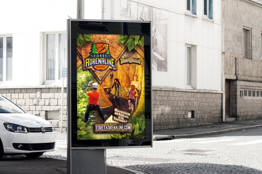 Affiche abris-bus 120x176 Forêt Adrénaline