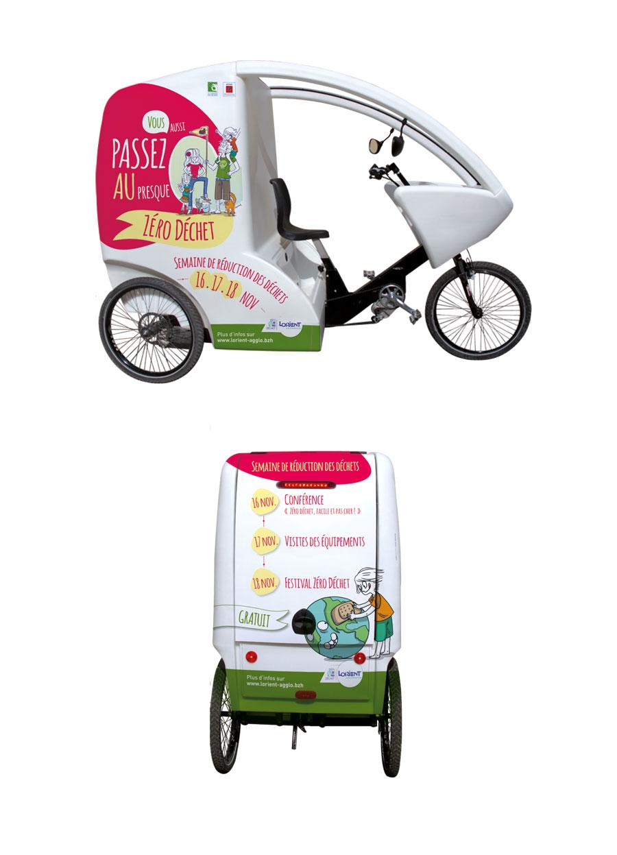 Cyclocargo semaine de réduction des déchets 2018