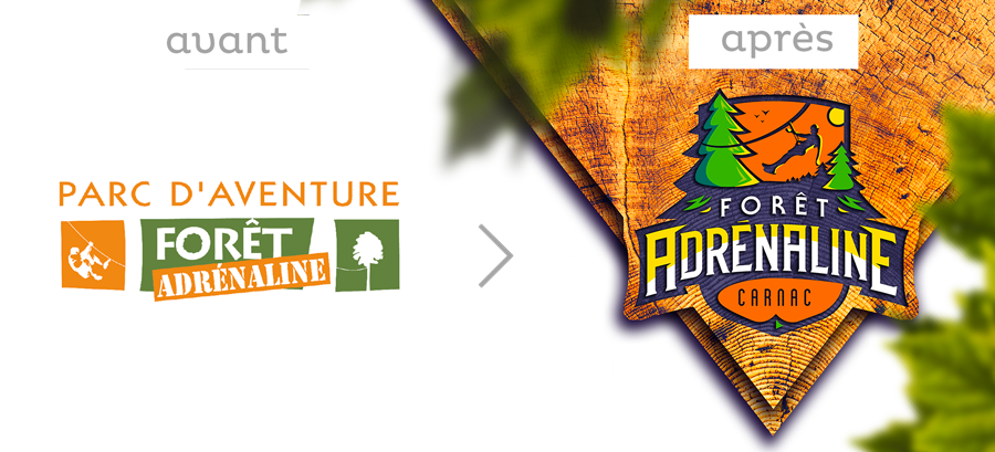 logo avant-après foret Adrenaline