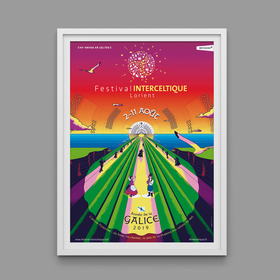 affiche Festival interceltique 2019 Galice