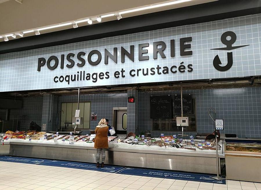 Leclerc Concarneau poissonnerie