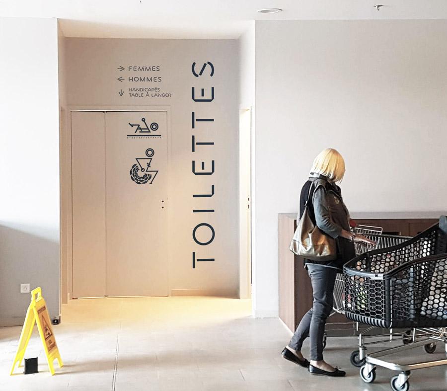 Leclerc Concarneau -toilettes-entrée