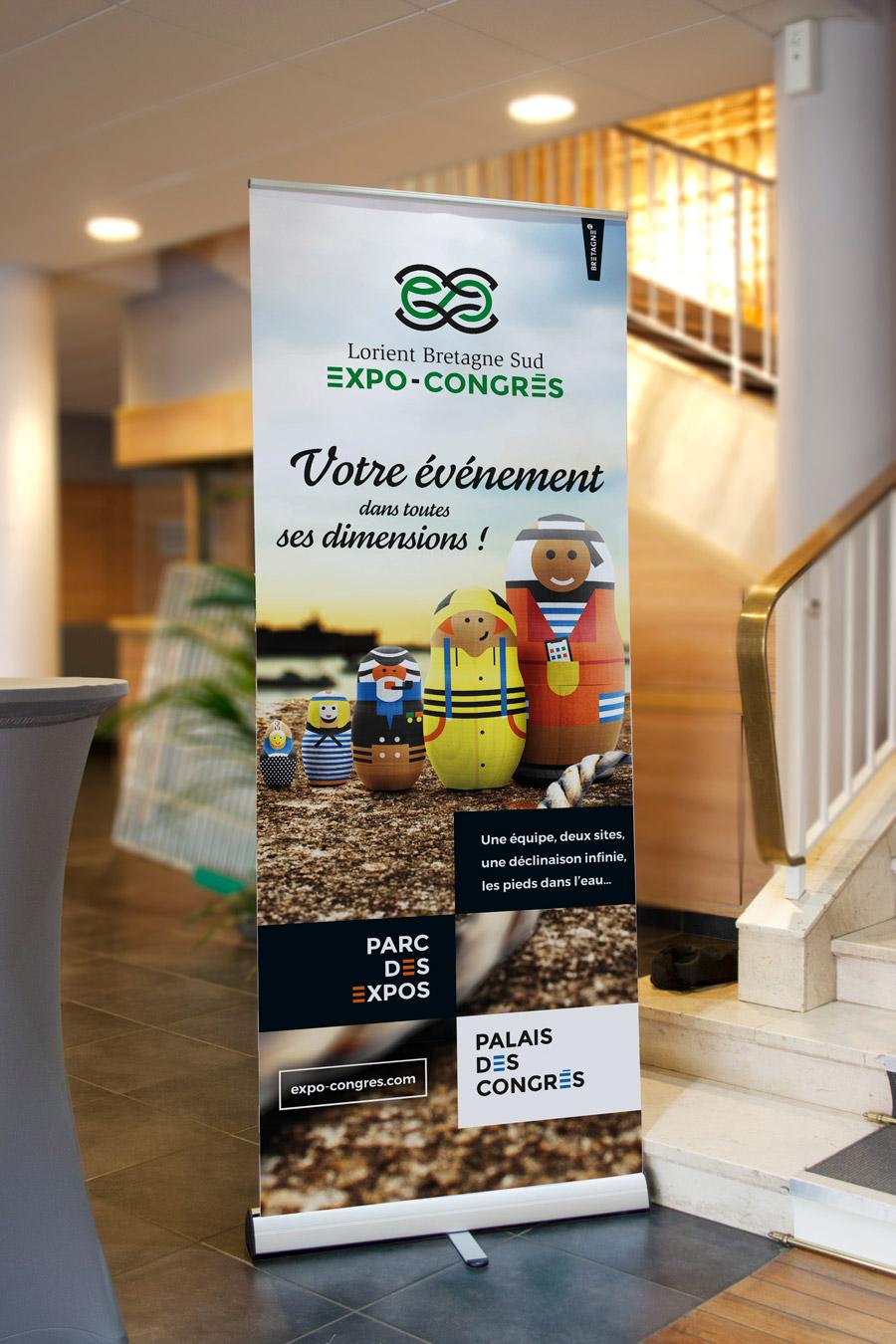 rollup Expo-Congrès Lorient bretagne sud
