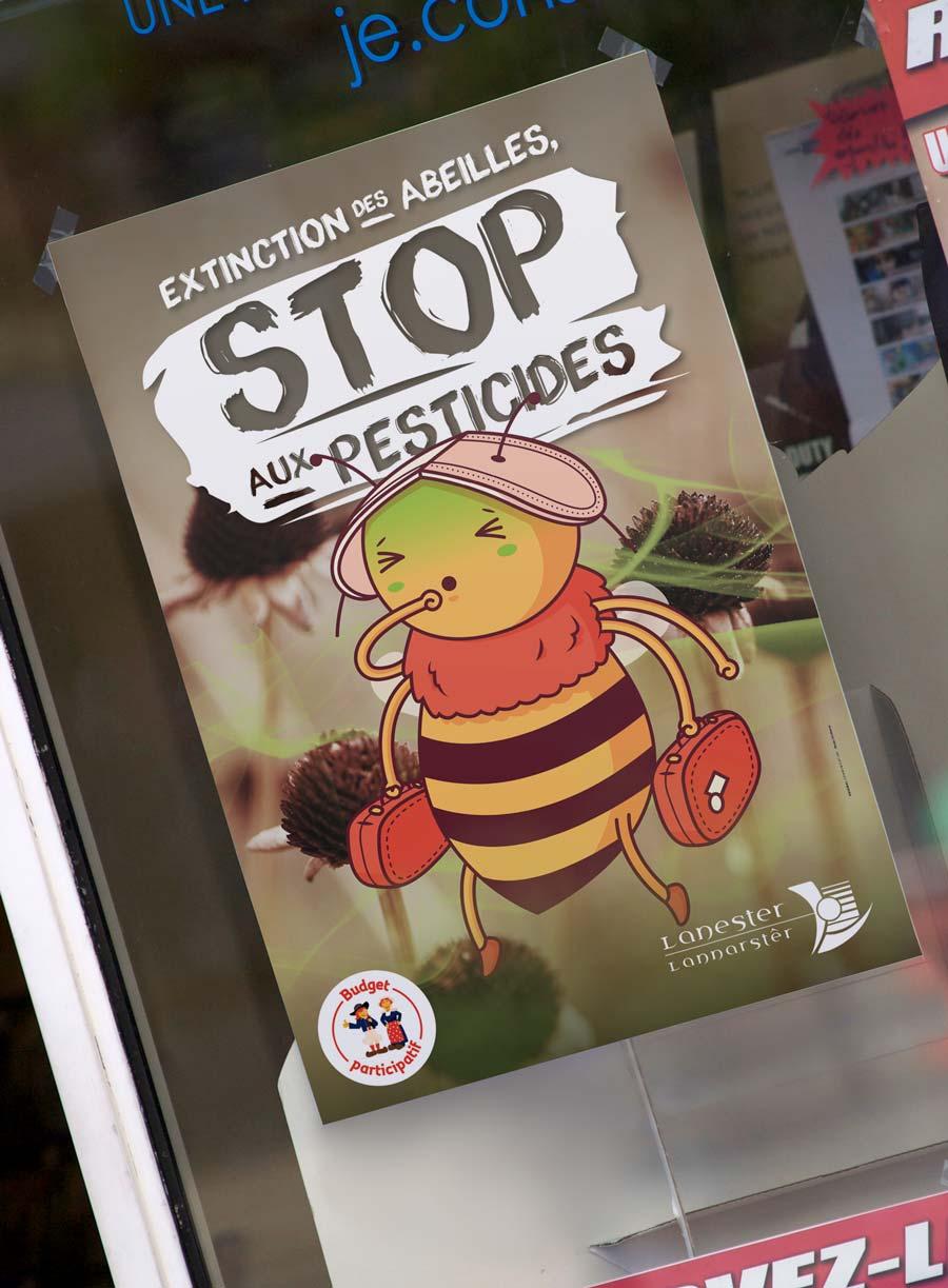 affiche-stop-pesticides-lanester-abeilles