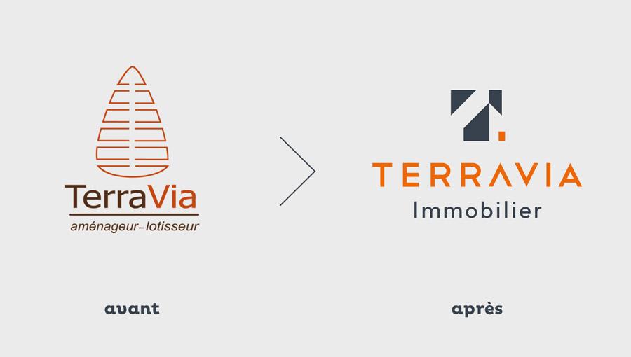 Évolution du logo Terravia