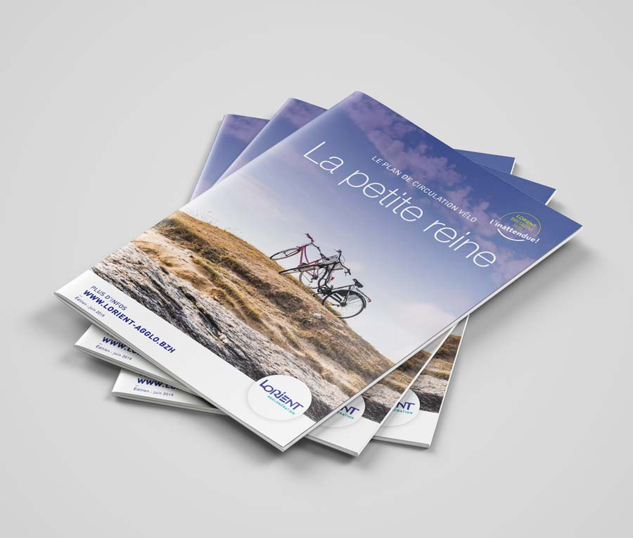 couverture plan guide vélo lorient Agglo