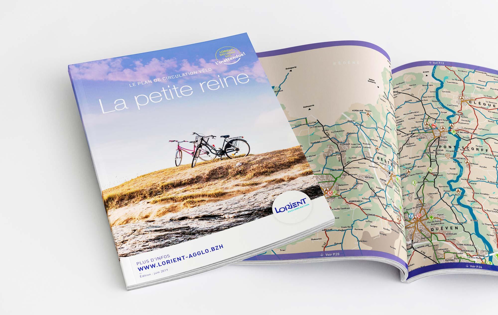 Guide la petite reine carto-vélo Lorient Agglo