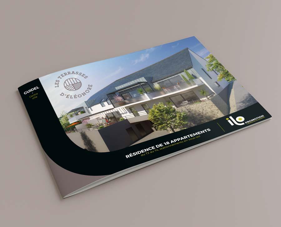 Couverture plaquette de présentation Ilo promotion les terrasses d'éléonore