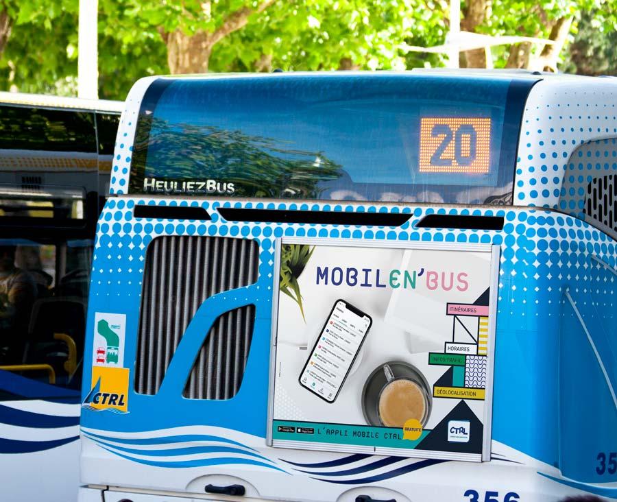 arrière de bus MobilEn'Bus CTRL appli
