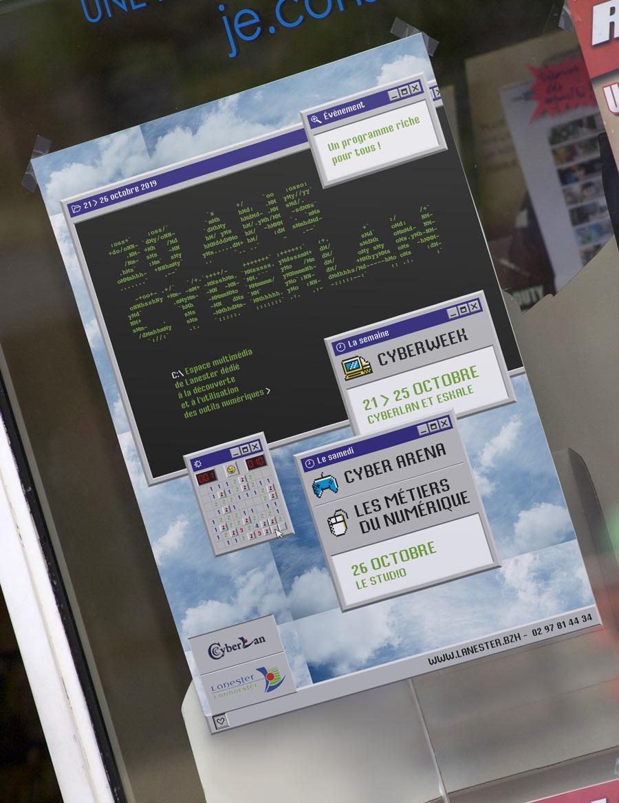 Affiche 40x60 pour les 20 ans de Cyberlan Lanester