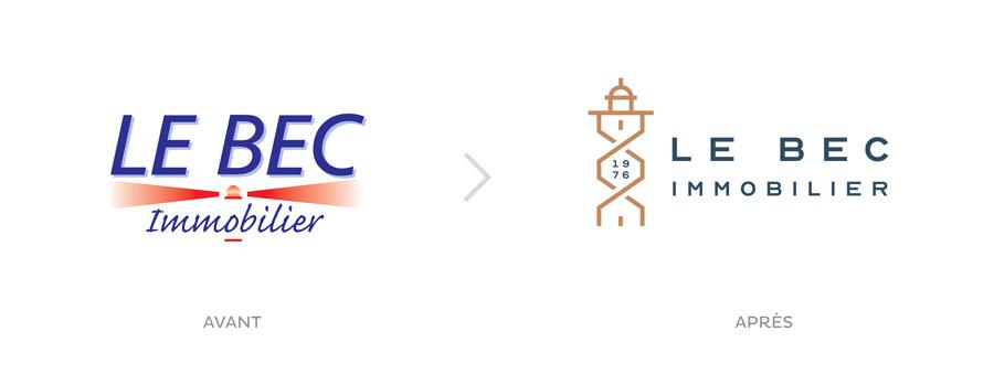 Évolution du logo Le Bec Immobilier