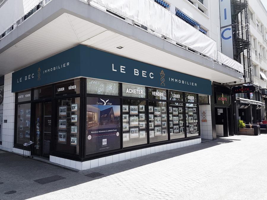 Devanture Le Bec Immobilier de Lorient
