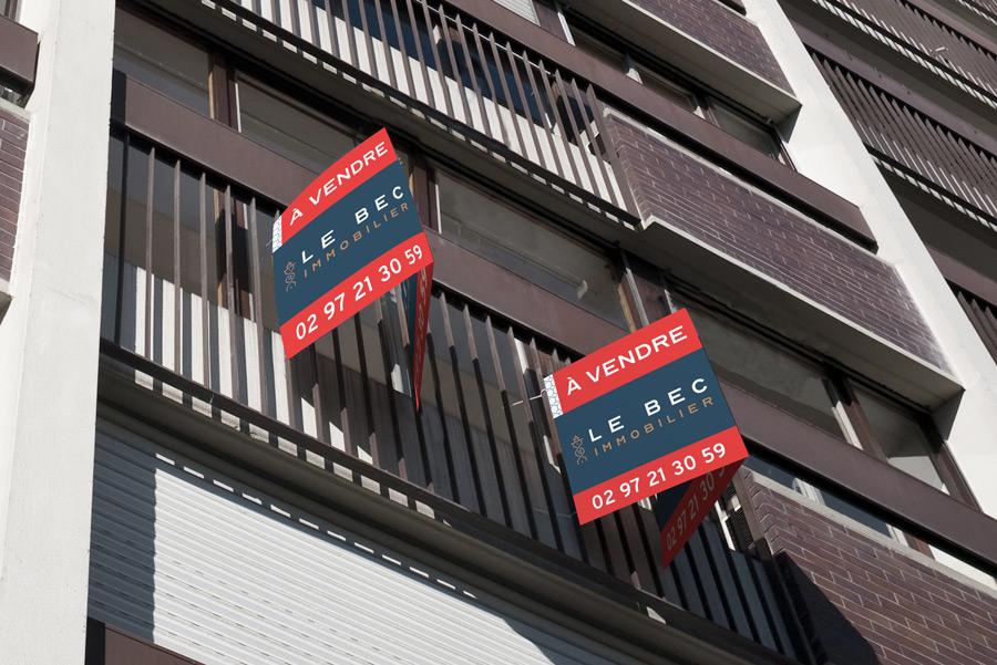 Panneau à vendre Le Bec Immobilier