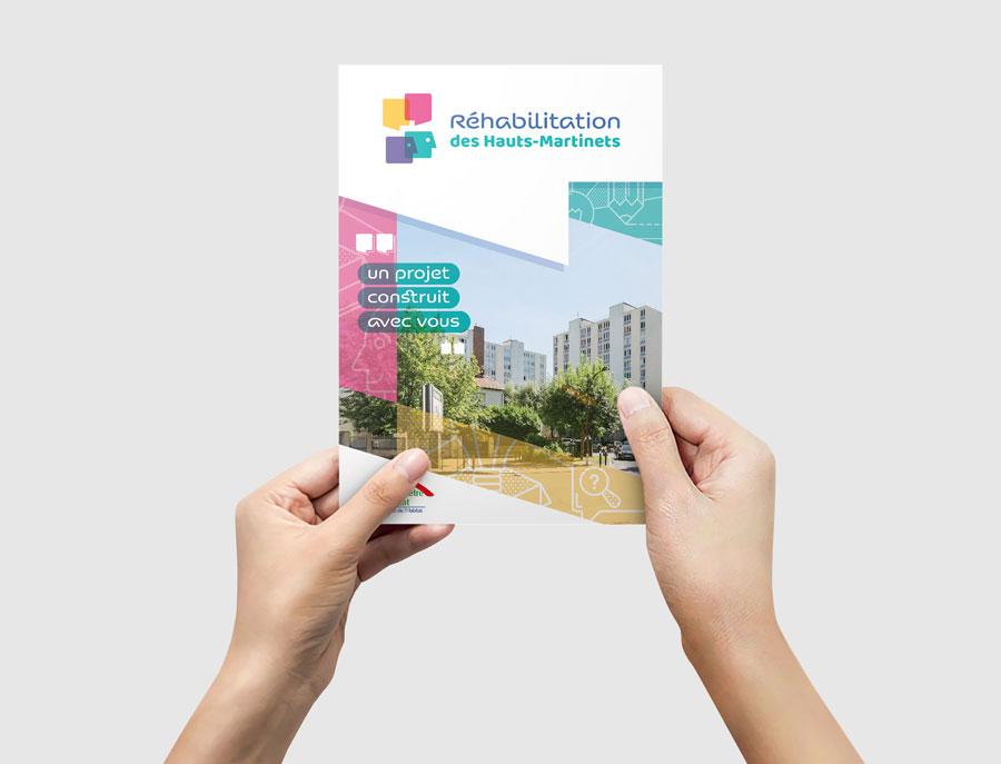 Brochure de présentation de la concertation pour la réhabilitation de la résidence des Haut-Martinets