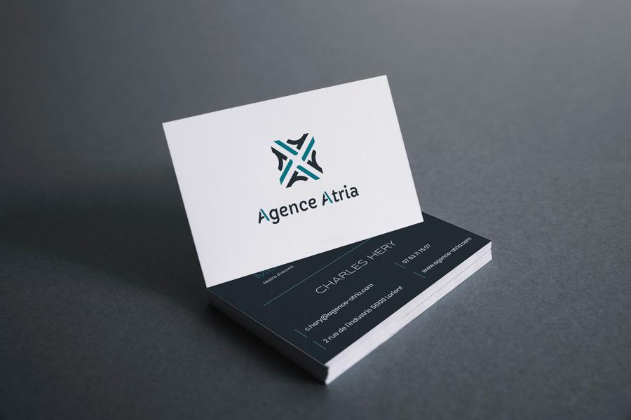 Carte de visite de l'Agence Atria