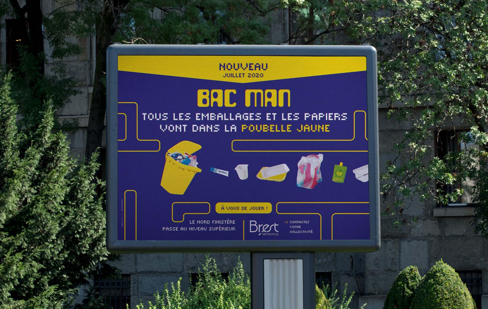 affichage 4x3 campagne bac man