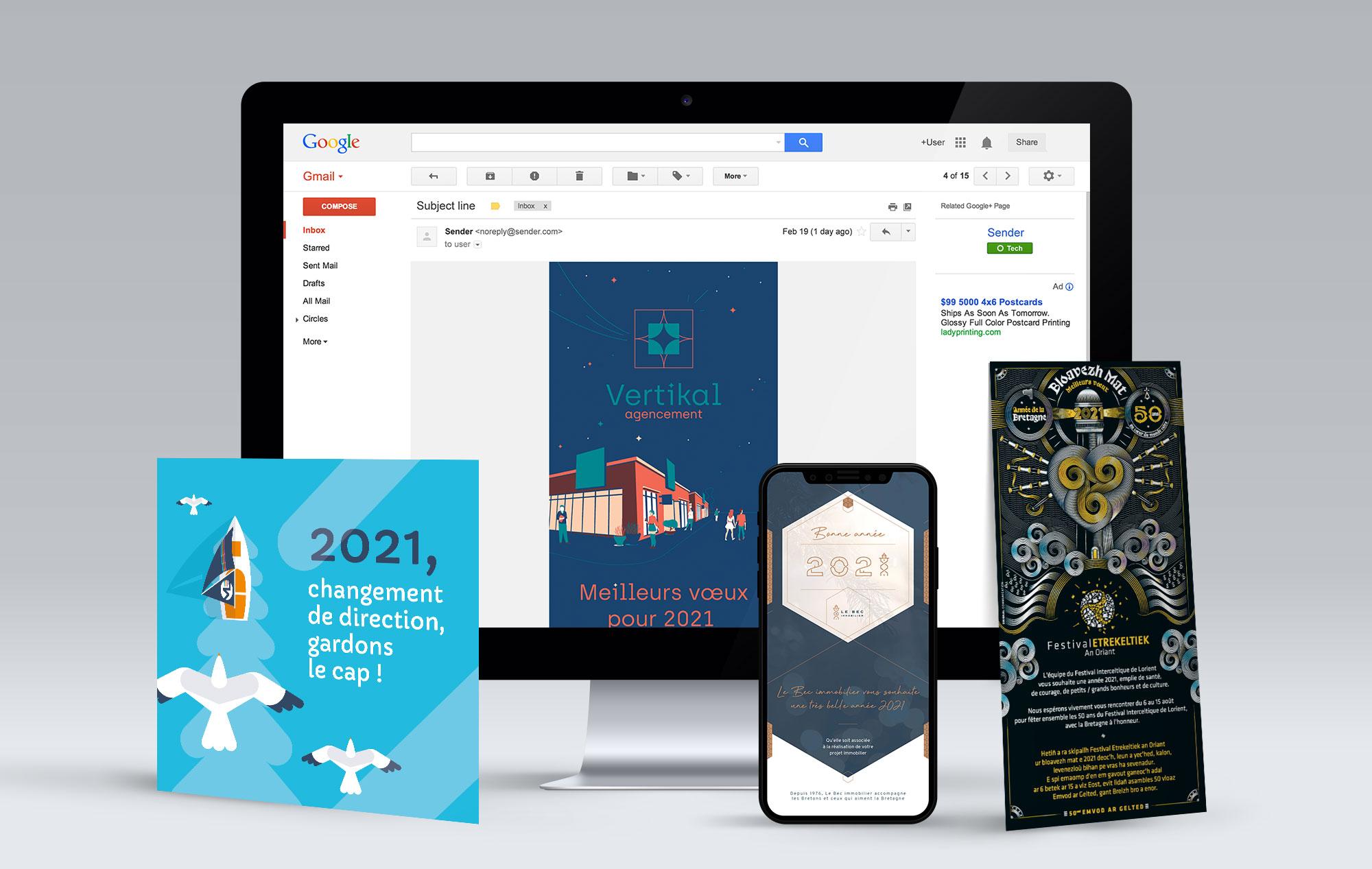 vœux 2021 print et web