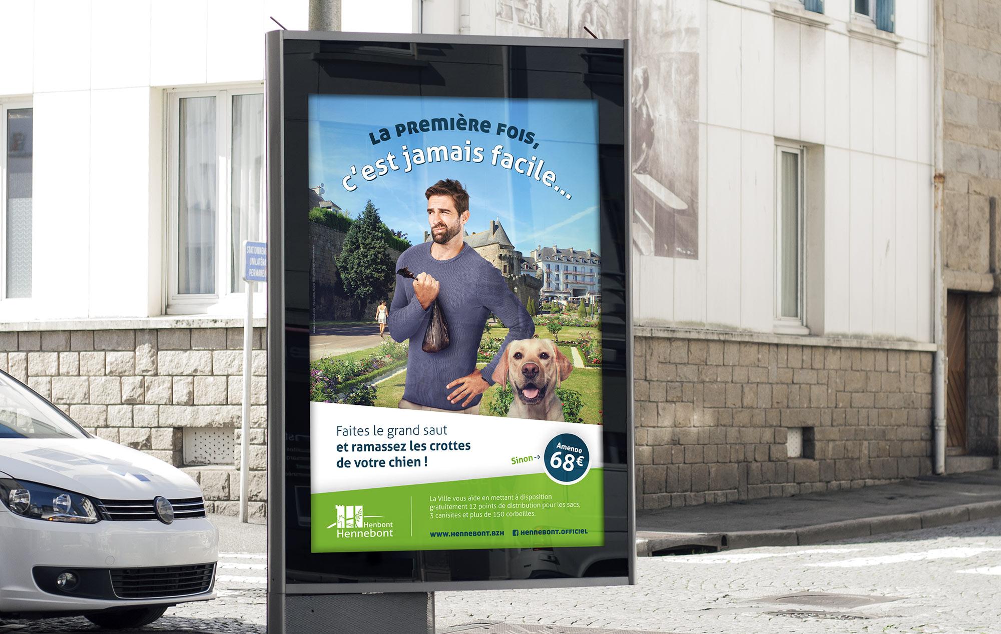 L'affiche avec le message sur les déjections canines