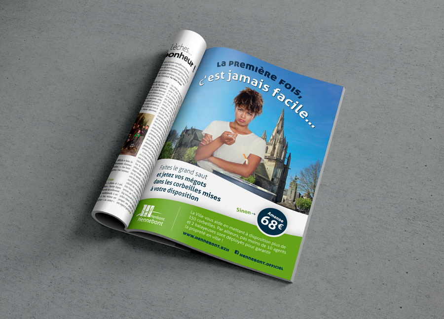 La version sur les cigarettes dans le magazine municipal