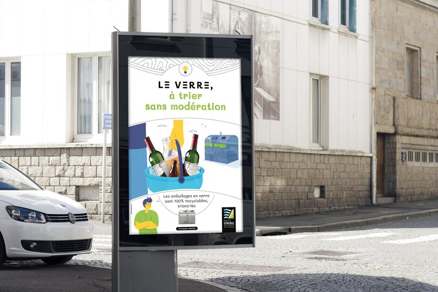 Affiche 120x176 de la campagne de sensibilisation du Pays d'Iroise