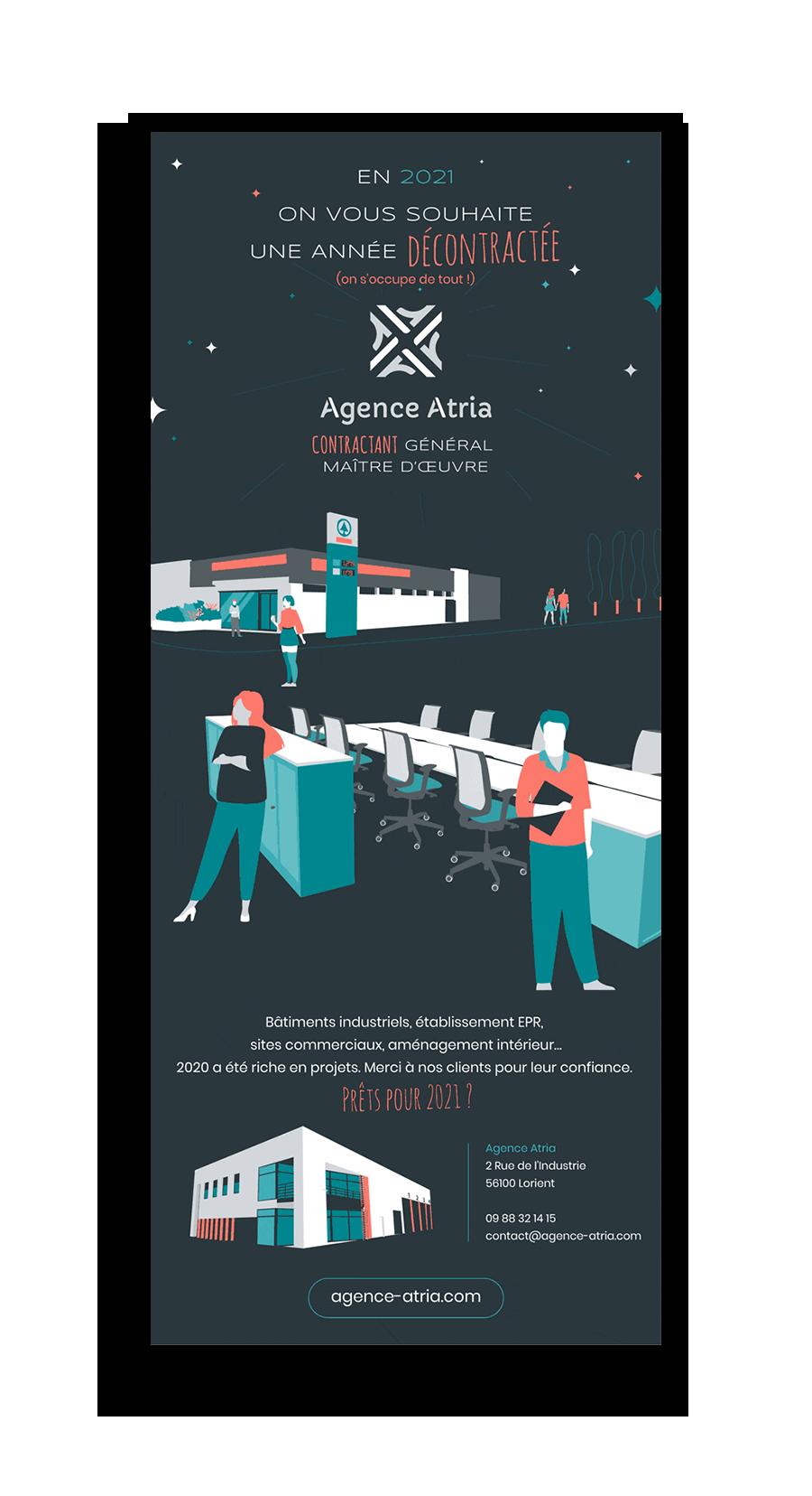 Vœux Agence Atria version mail