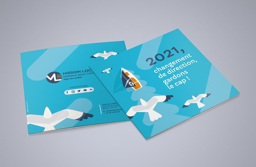 Vœux mission locale de Lorient 4 pages 15x15cm