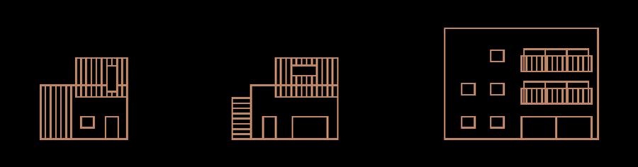 Pictogrammes des différentes habitations
