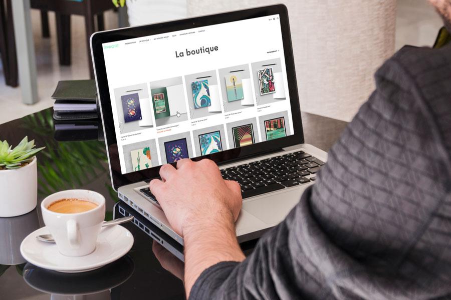 La page boutique du site web Shopignal