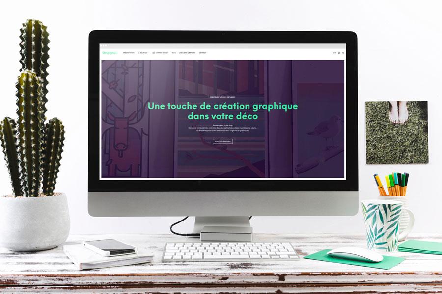 La page de présentation du site web Shopignal