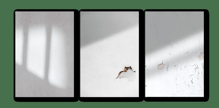 Textures de fond des visuels de la campagne sur les violences conjugales