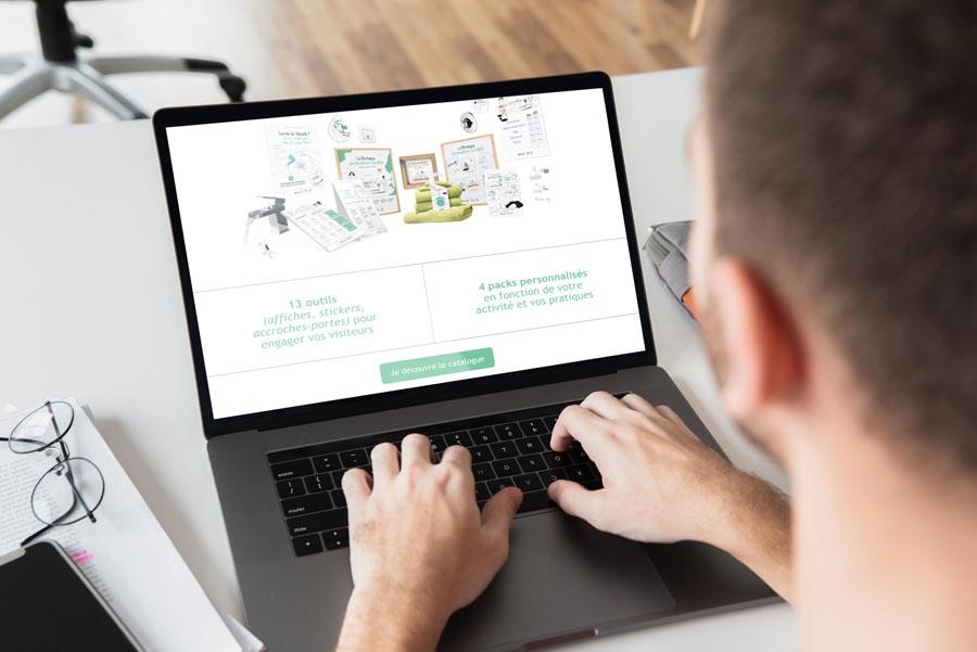 Landing page kit com CRT